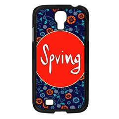 Floral Texture Pattern Card Floral Seamless Vector Samsung Galaxy S4 I9500/ I9505 Case (Black)