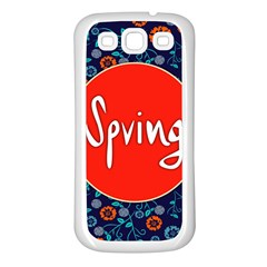 Floral Texture Pattern Card Floral Seamless Vector Samsung Galaxy S3 Back Case (White)