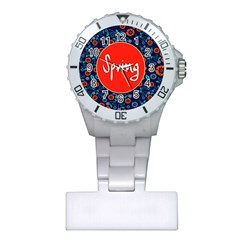 Floral Texture Pattern Card Floral Seamless Vector Plastic Nurses Watch