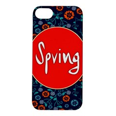 Floral Texture Pattern Card Floral Seamless Vector Apple Iphone 5s/ Se Hardshell Case
