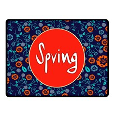 Floral Texture Pattern Card Floral Seamless Vector Double Sided Fleece Blanket (Small)