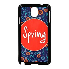 Floral Texture Pattern Card Floral Seamless Vector Samsung Galaxy Note 3 Neo Hardshell Case (Black)