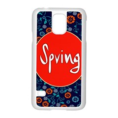 Floral Texture Pattern Card Floral Seamless Vector Samsung Galaxy S5 Case (White)