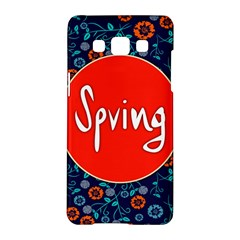 Floral Texture Pattern Card Floral Seamless Vector Samsung Galaxy A5 Hardshell Case