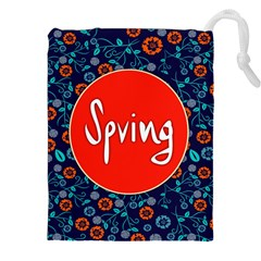Floral Texture Pattern Card Floral Seamless Vector Drawstring Pouches (xxl)