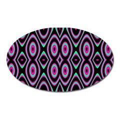 Colorful Seamless Pattern Vibrant Pattern Oval Magnet