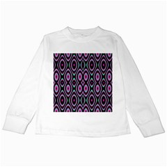 Colorful Seamless Pattern Vibrant Pattern Kids Long Sleeve T Shirts