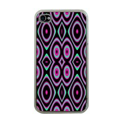 Colorful Seamless Pattern Vibrant Pattern Apple iPhone 4 Case (Clear)