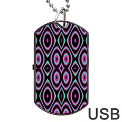 Colorful Seamless Pattern Vibrant Pattern Dog Tag Usb Flash (one Side)