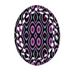 Colorful Seamless Pattern Vibrant Pattern Oval Filigree Ornament (two Sides)