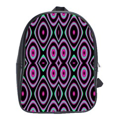 Colorful Seamless Pattern Vibrant Pattern School Bags (XL)