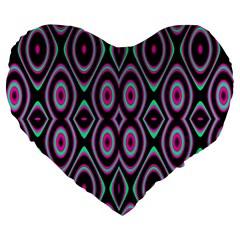 Colorful Seamless Pattern Vibrant Pattern Large 19  Premium Heart Shape Cushions