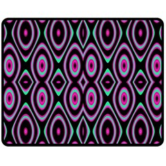Colorful Seamless Pattern Vibrant Pattern Double Sided Fleece Blanket (Medium)