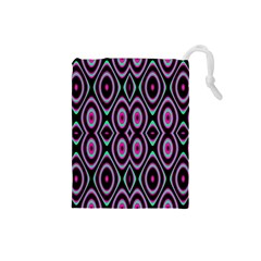 Colorful Seamless Pattern Vibrant Pattern Drawstring Pouches (Small)