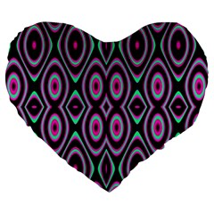 Colorful Seamless Pattern Vibrant Pattern Large 19  Premium Flano Heart Shape Cushions