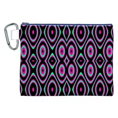 Colorful Seamless Pattern Vibrant Pattern Canvas Cosmetic Bag (xxl)