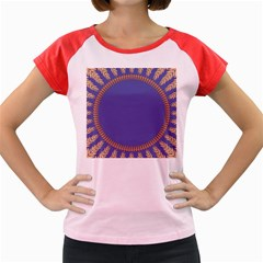 Frame Of Leafs Pattern Background Women s Cap Sleeve T-Shirt
