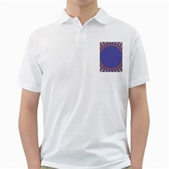 Frame Of Leafs Pattern Background Golf Shirts