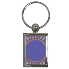 Frame Of Leafs Pattern Background Key Chains (Rectangle)