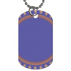 Frame Of Leafs Pattern Background Dog Tag (two Sides)