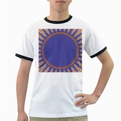 Frame Of Leafs Pattern Background Ringer T Shirts
