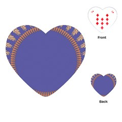 Frame Of Leafs Pattern Background Playing Cards (heart)