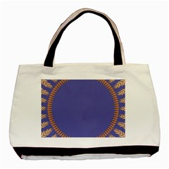 Frame Of Leafs Pattern Background Basic Tote Bag (two Sides)