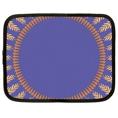 Frame Of Leafs Pattern Background Netbook Case (large)