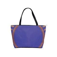 Frame Of Leafs Pattern Background Shoulder Handbags