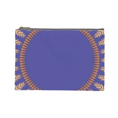 Frame Of Leafs Pattern Background Cosmetic Bag (Large)