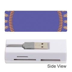 Frame Of Leafs Pattern Background Memory Card Reader (stick)