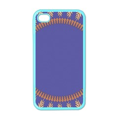 Frame Of Leafs Pattern Background Apple iPhone 4 Case (Color)