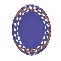 Frame Of Leafs Pattern Background Oval Filigree Ornament (Two Sides)