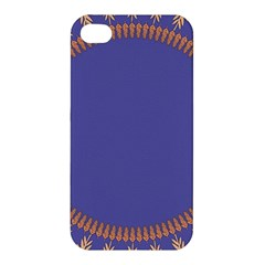 Frame Of Leafs Pattern Background Apple iPhone 4/4S Premium Hardshell Case