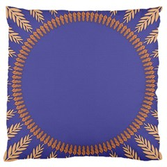 Frame Of Leafs Pattern Background Large Cushion Case (one Side)
