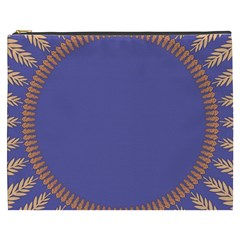 Frame Of Leafs Pattern Background Cosmetic Bag (XXXL)