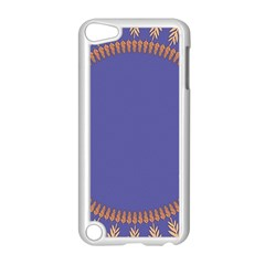 Frame Of Leafs Pattern Background Apple iPod Touch 5 Case (White)