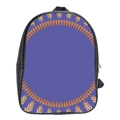 Frame Of Leafs Pattern Background School Bags (XL)