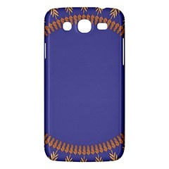 Frame Of Leafs Pattern Background Samsung Galaxy Mega 5.8 I9152 Hardshell Case