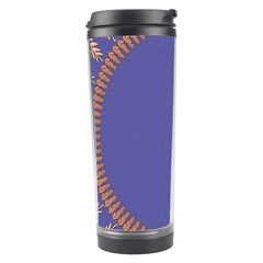 Frame Of Leafs Pattern Background Travel Tumbler