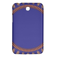 Frame Of Leafs Pattern Background Samsung Galaxy Tab 3 (7 ) P3200 Hardshell Case