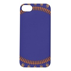 Frame Of Leafs Pattern Background Apple Iphone 5s/ Se Hardshell Case