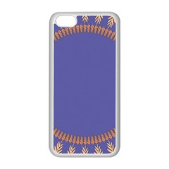 Frame Of Leafs Pattern Background Apple iPhone 5C Seamless Case (White)