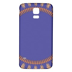 Frame Of Leafs Pattern Background Samsung Galaxy S5 Back Case (White)