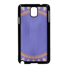 Frame Of Leafs Pattern Background Samsung Galaxy Note 3 Neo Hardshell Case (black)