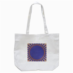 Frame Of Leafs Pattern Background Tote Bag (White)