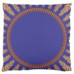 Frame Of Leafs Pattern Background Large Flano Cushion Case (One Side)