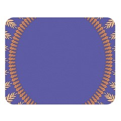 Frame Of Leafs Pattern Background Double Sided Flano Blanket (Large)