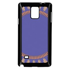 Frame Of Leafs Pattern Background Samsung Galaxy Note 4 Case (black)
