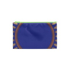 Frame Of Leafs Pattern Background Cosmetic Bag (xs)